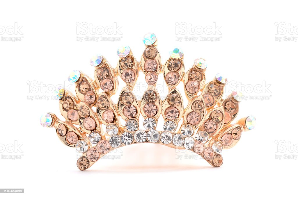 tiara on a white background stock photo