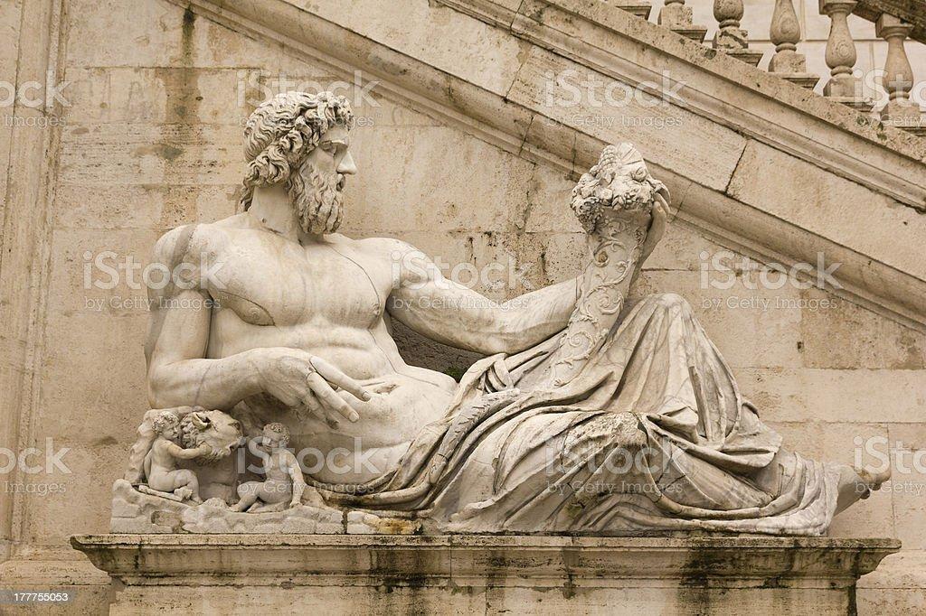 Tiber as a god. Campidoglio, Rome. royalty-free stock photo
