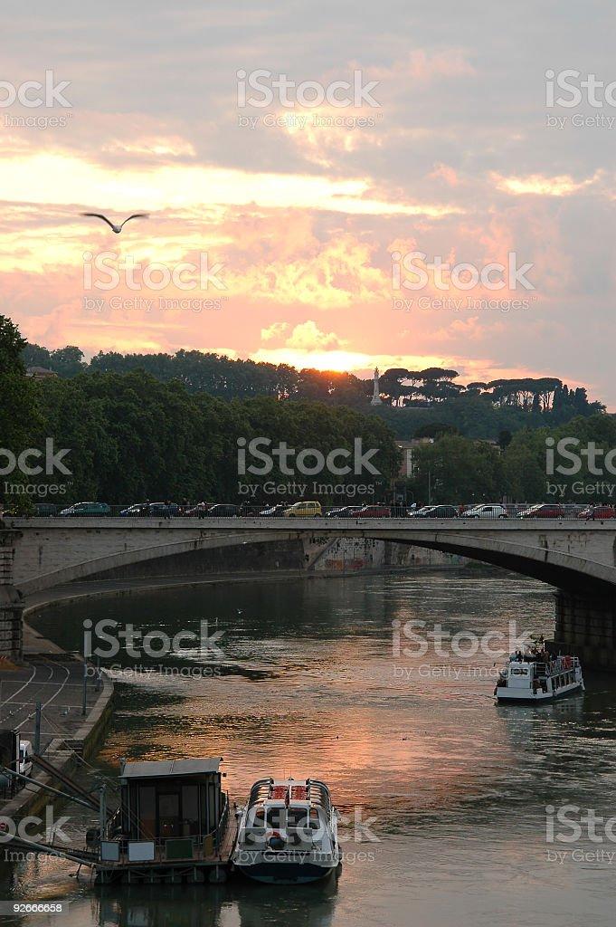 Tiber at Dusk royalty-free stock photo