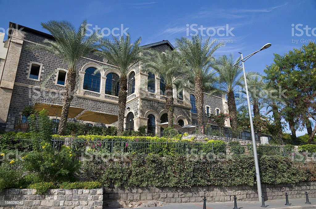Tiberias Scotish hotel royalty-free stock photo