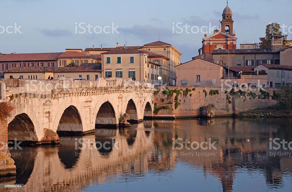 Tiberio Roman bridge. stock photo