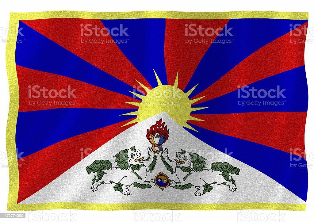 tibet flag royalty-free stock photo