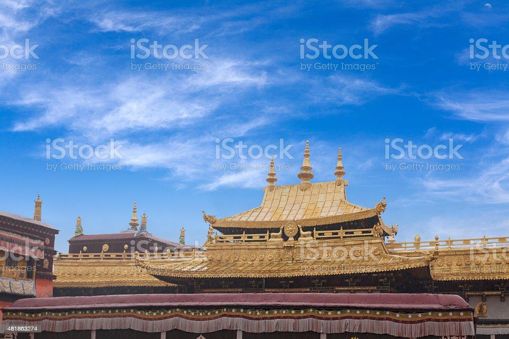 Tibet Jokhang Temple Building stock photo