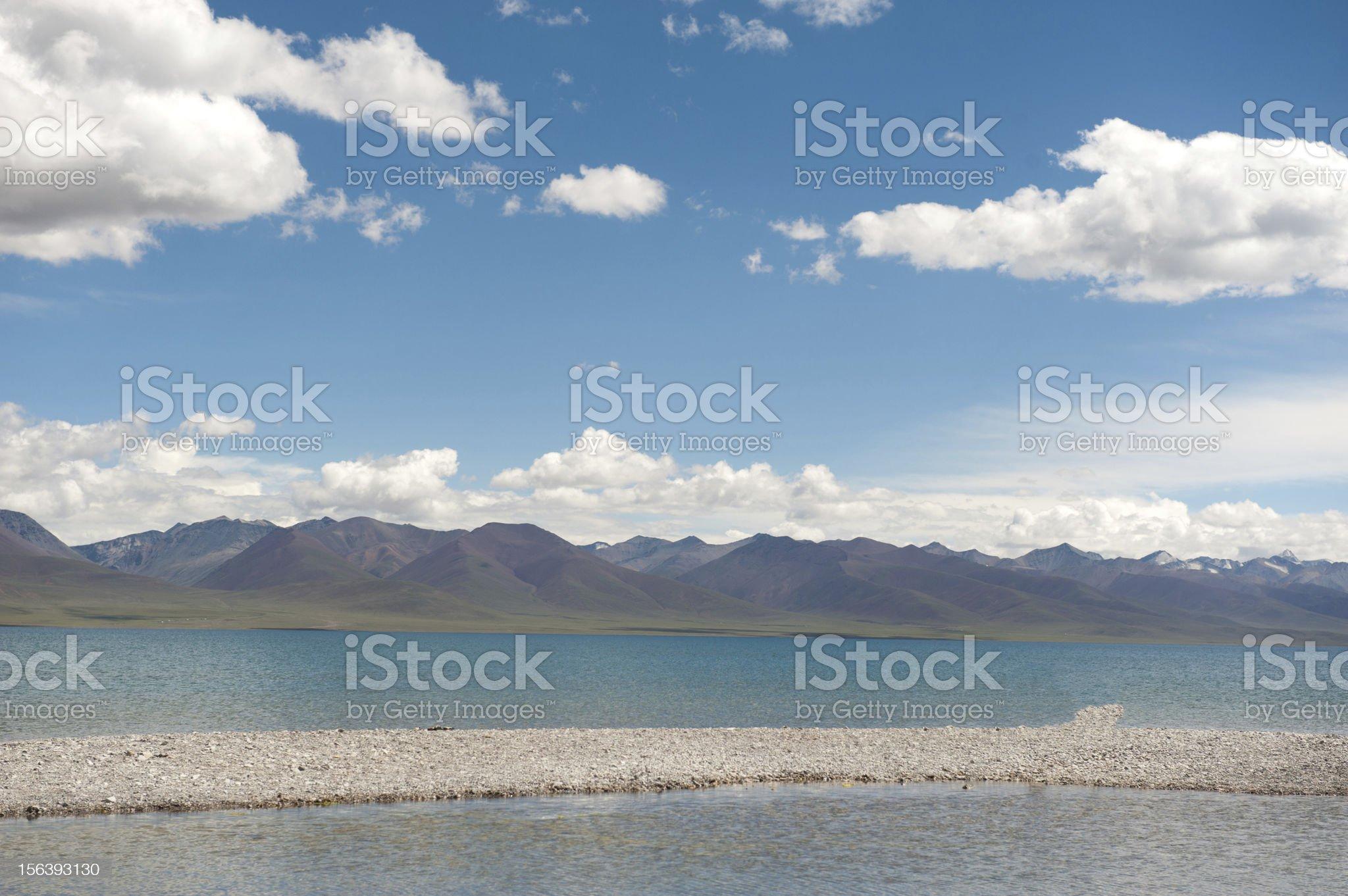 tibet lake in summer royalty-free stock photo