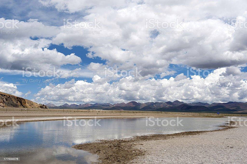 tibet lake in summer stock photo