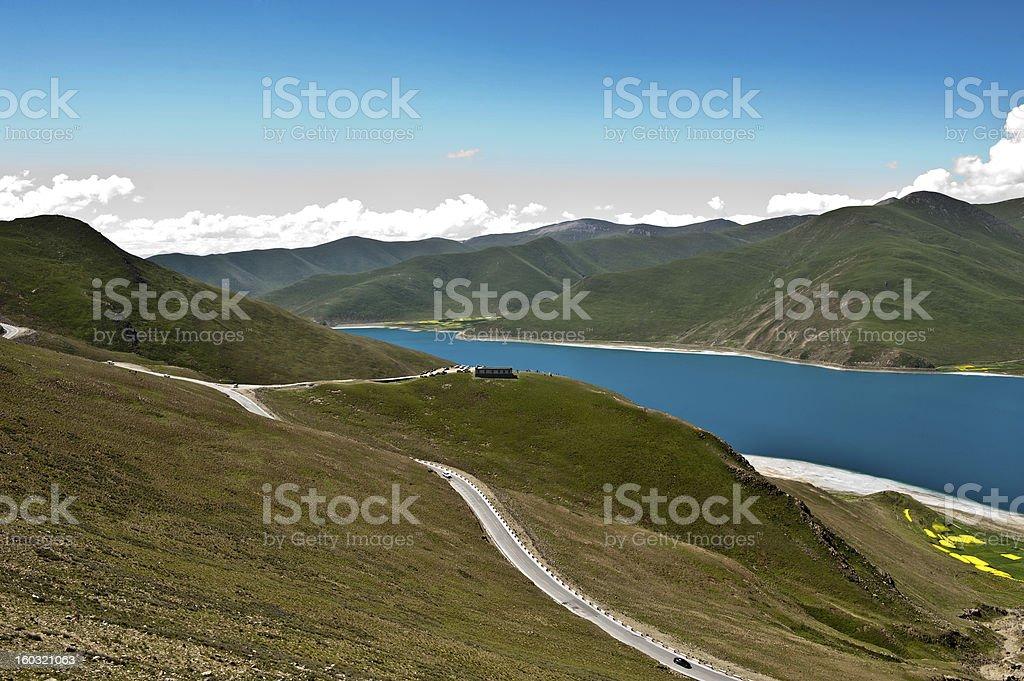 Tibet lake royalty-free stock photo