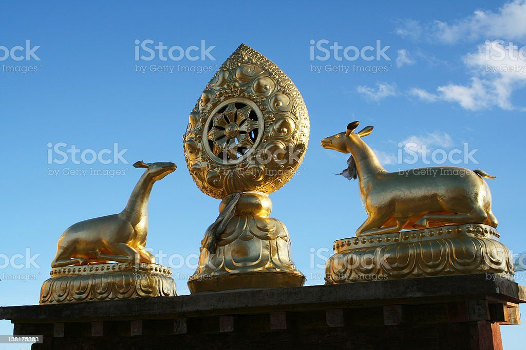 Tibet sculpture royalty-free stock photo