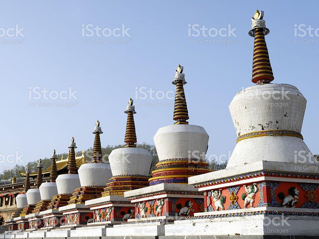 Tibet Stupa royalty-free stock photo