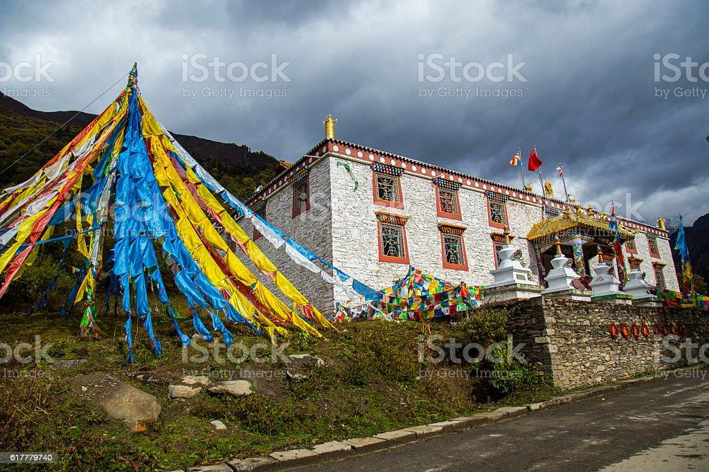 Tibet Temple stock photo