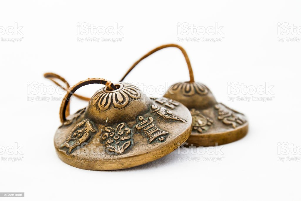 Tibetan bells alone stock photo
