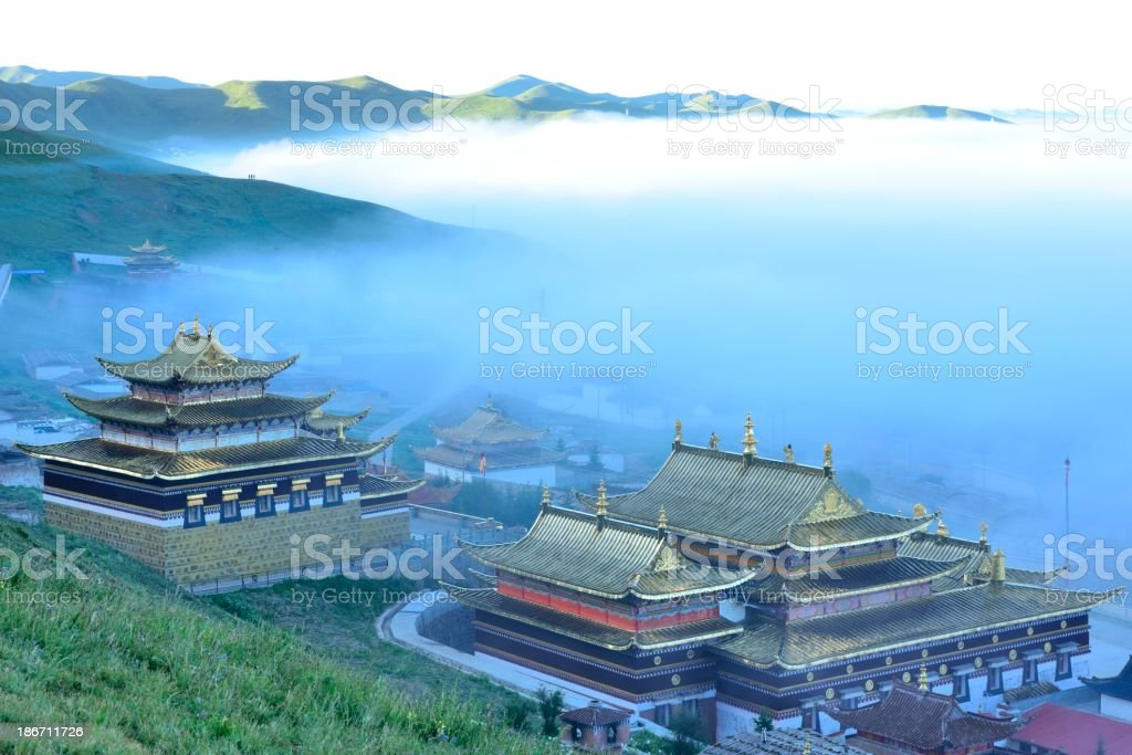 Tibetan Buddhism monastery stock photo