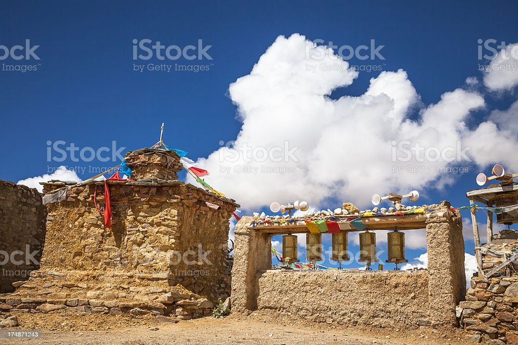 Tibetan buddhist pagoda stock photo