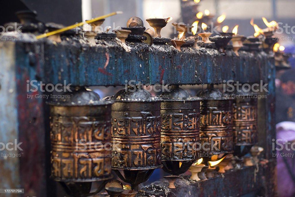 Tibetan Buddhist Prayer Wheel stock photo