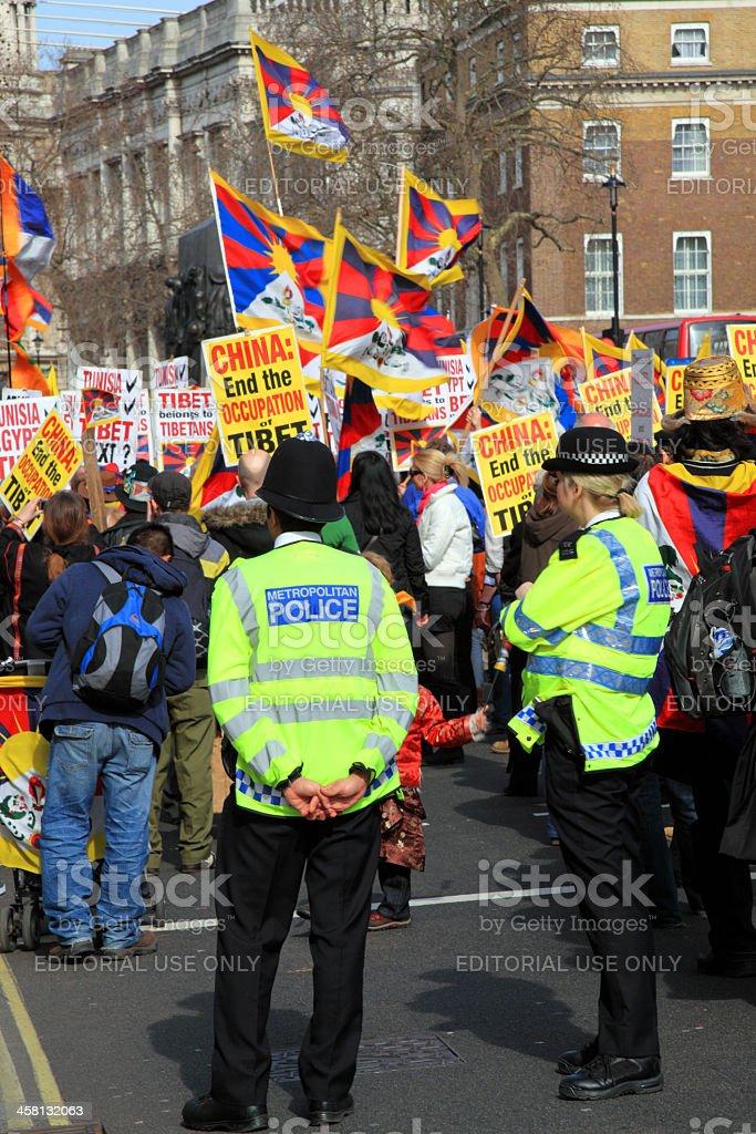 Tibetan Demonstration royalty-free stock photo