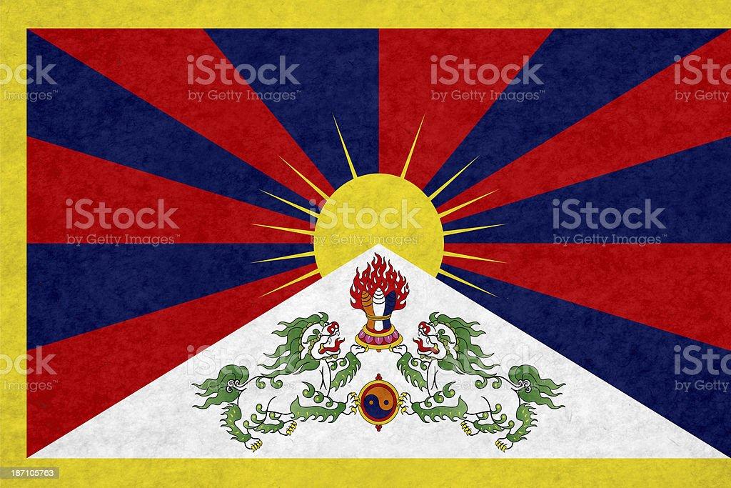 Tibetan flag royalty-free stock photo