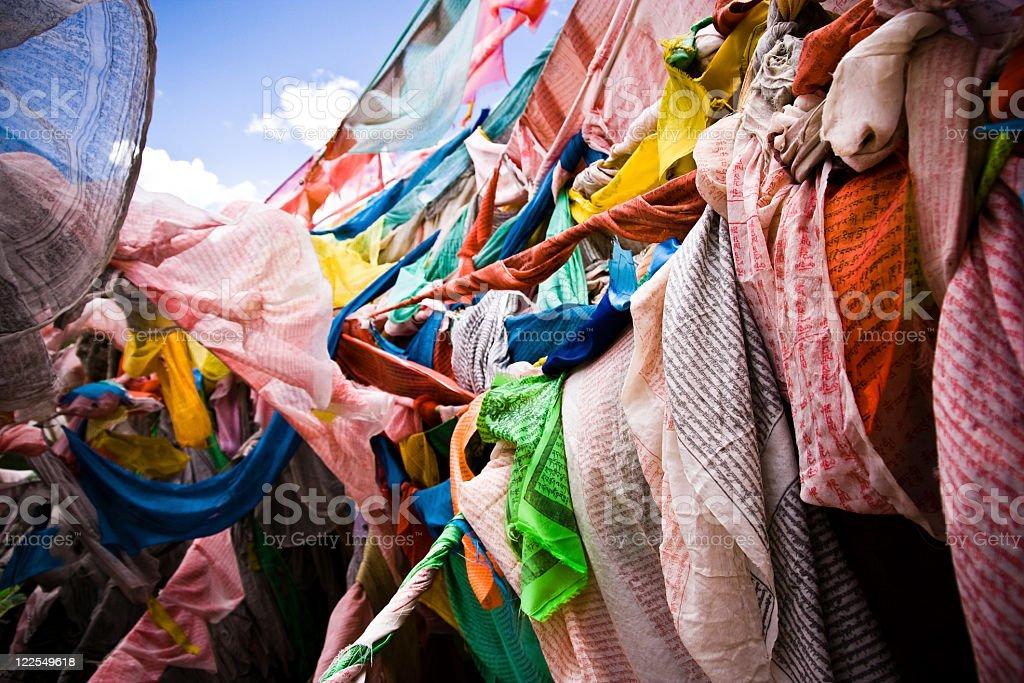 Tibetan flags royalty-free stock photo