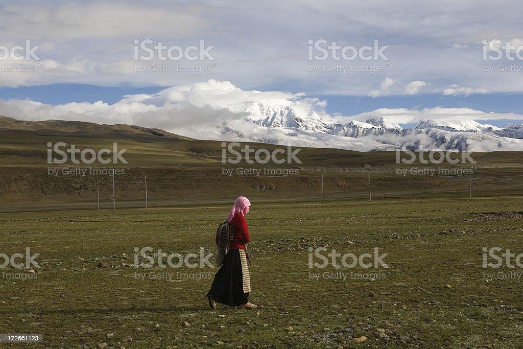 Tibetan Girl royalty-free stock photo