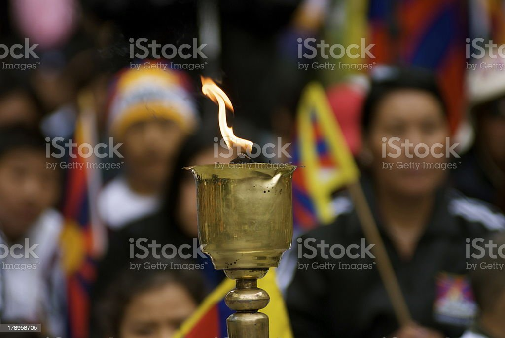 Tibetan Independence Torch royalty-free stock photo