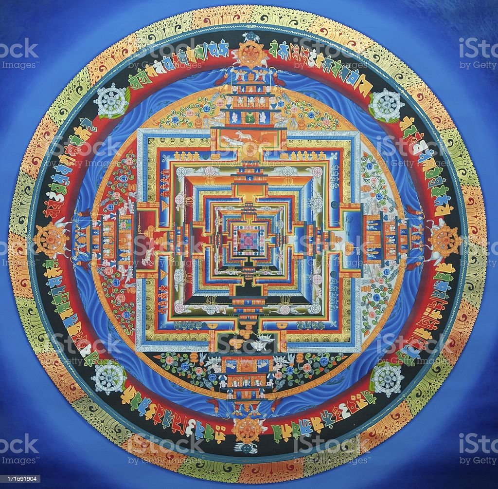Tibetan Kalachakra Mandala stock photo