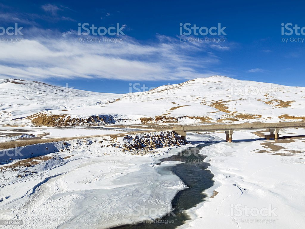 Tibetan Landscape royalty-free stock photo