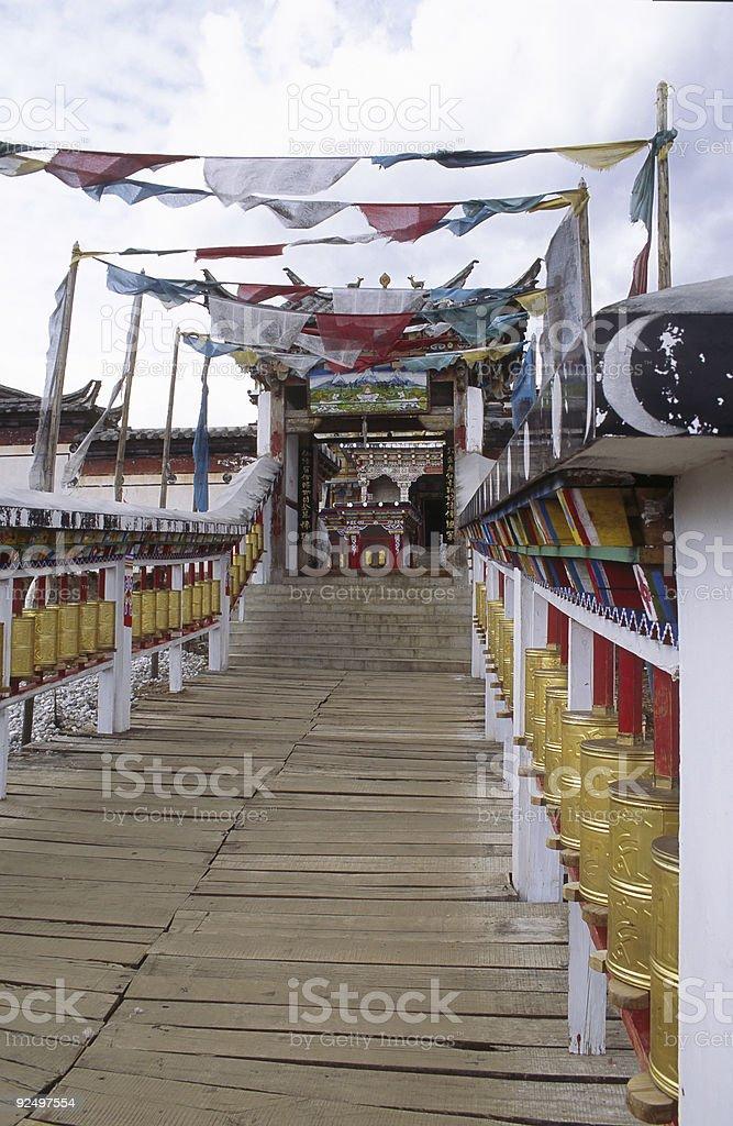 Tibetan Monastery royalty-free stock photo
