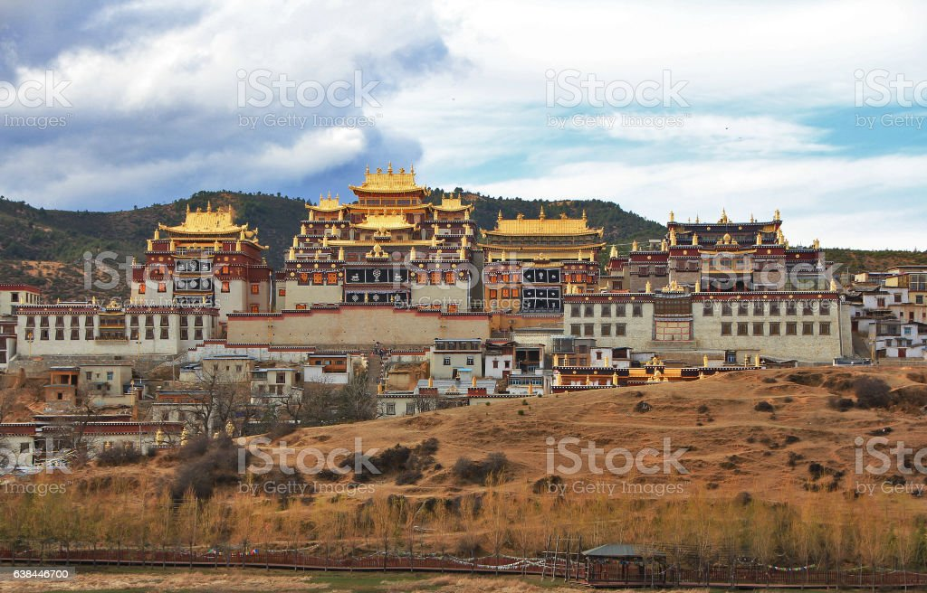 Tibetan monastery. Shangri-la. China. stock photo