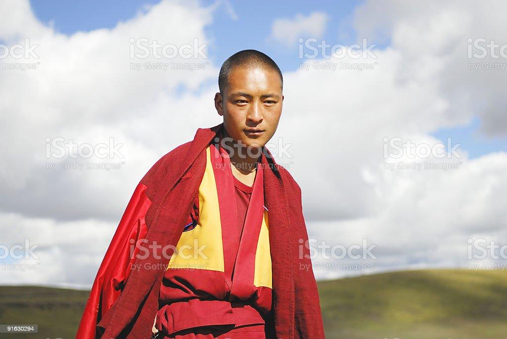 Tibetan Monk stock photo