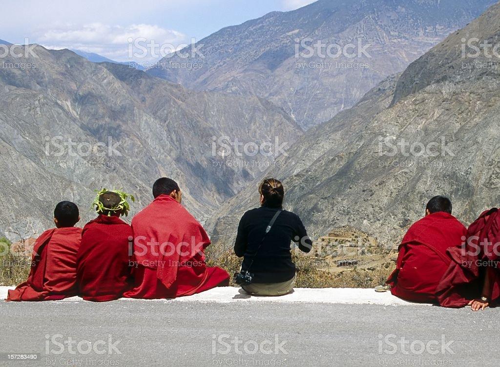 Tibetan Monks royalty-free stock photo