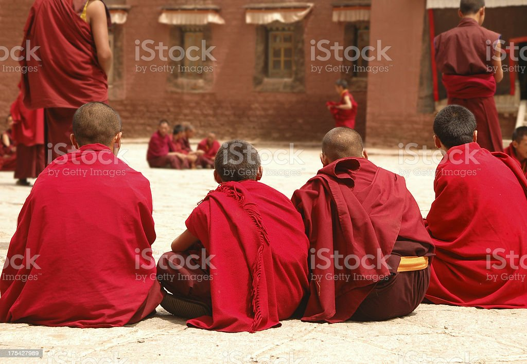 Tibetan Monks royalty-free stock photo