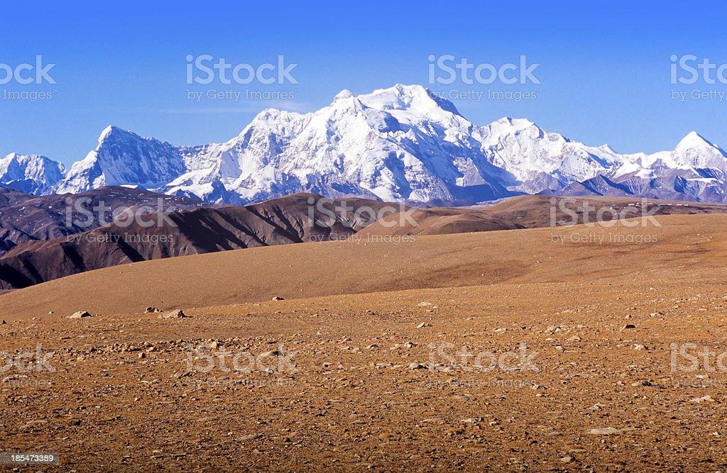 Tibetan Mountains royalty-free stock photo