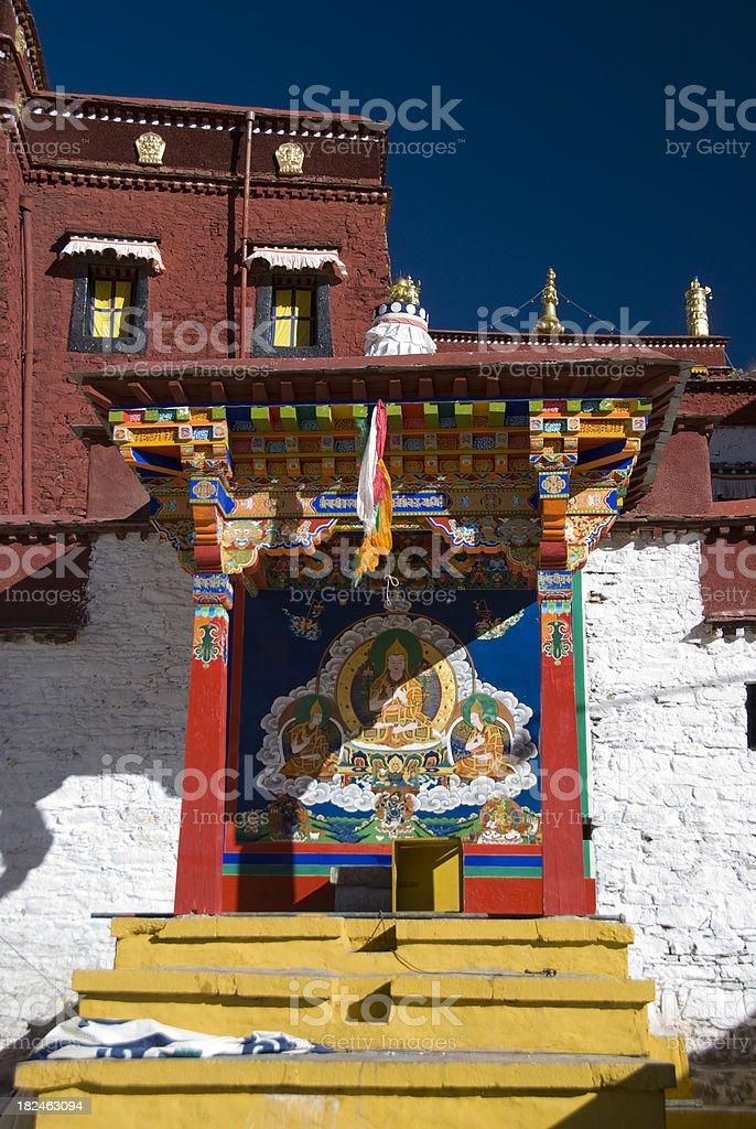 Tibetan Mural stock photo