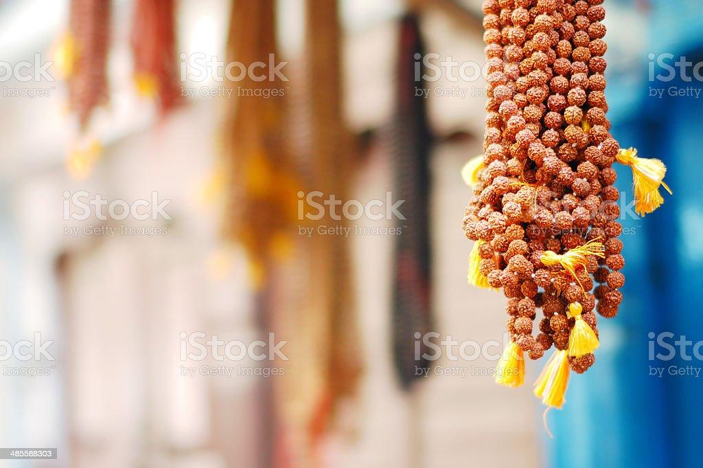 Tibetan necklace stock photo