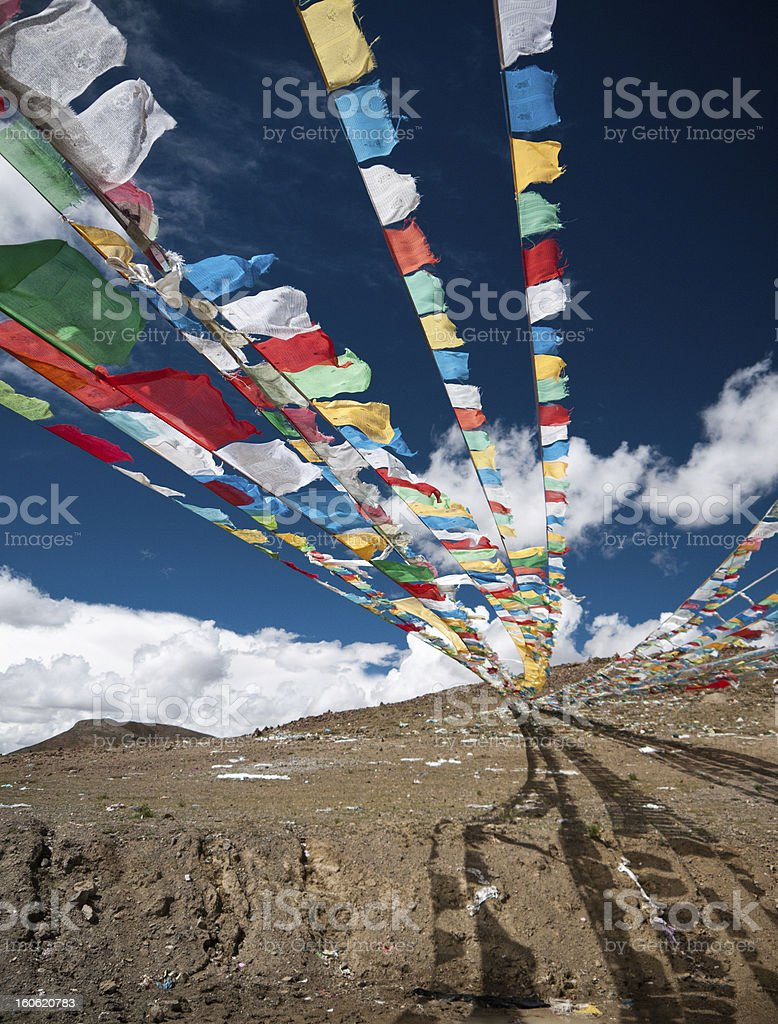 Tibetan Prayer Flags royalty-free stock photo
