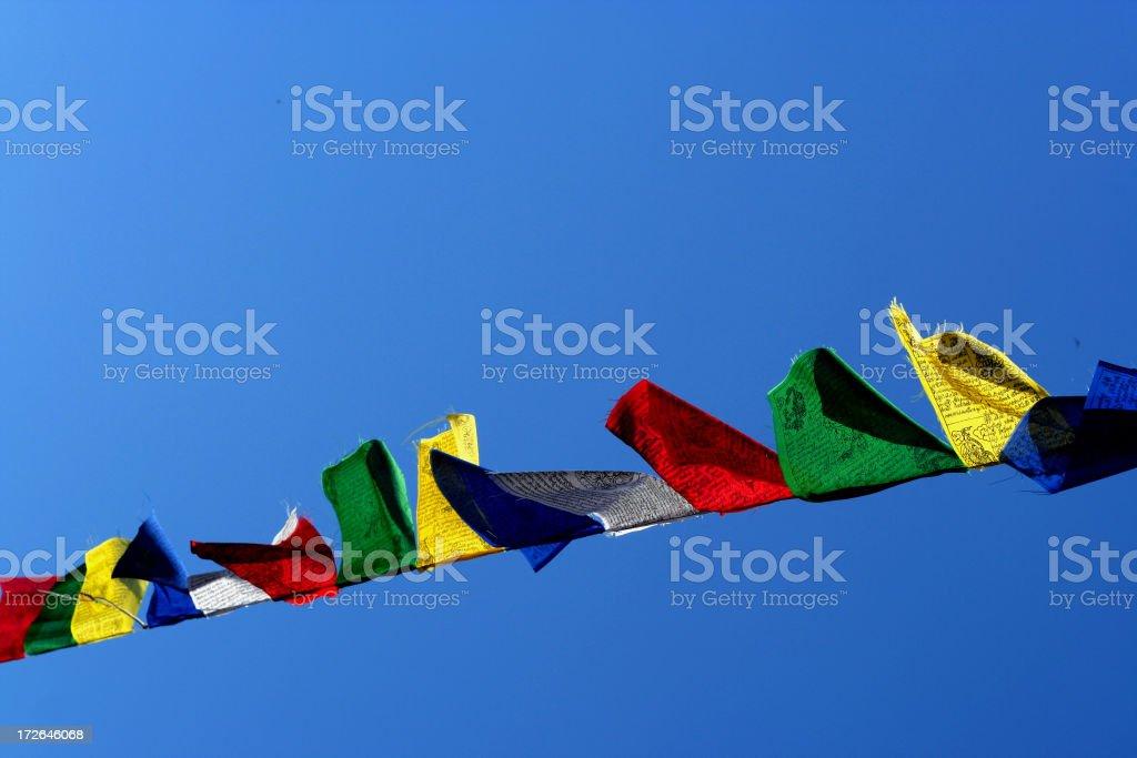 tibetan Prayer Flags #2 royalty-free stock photo