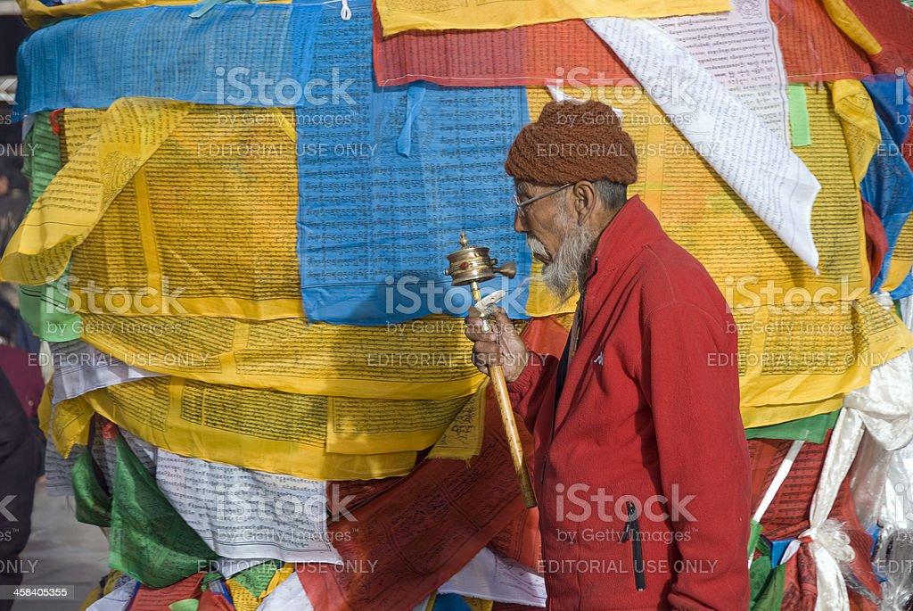 Tibetan Prayer Flags. stock photo