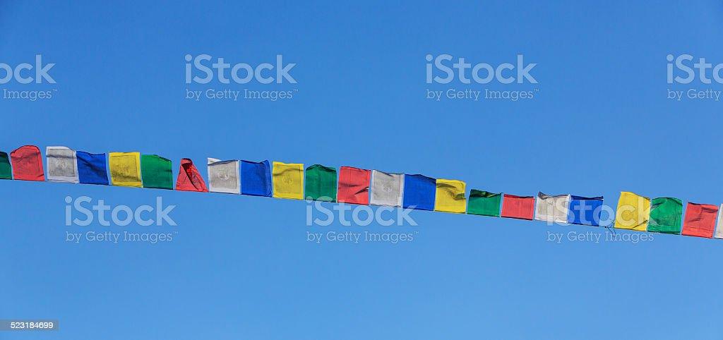 Tibetan prayer flags stock photo