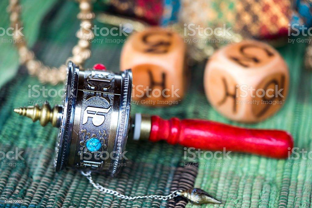 Tibetan Prayer Wheel stock photo