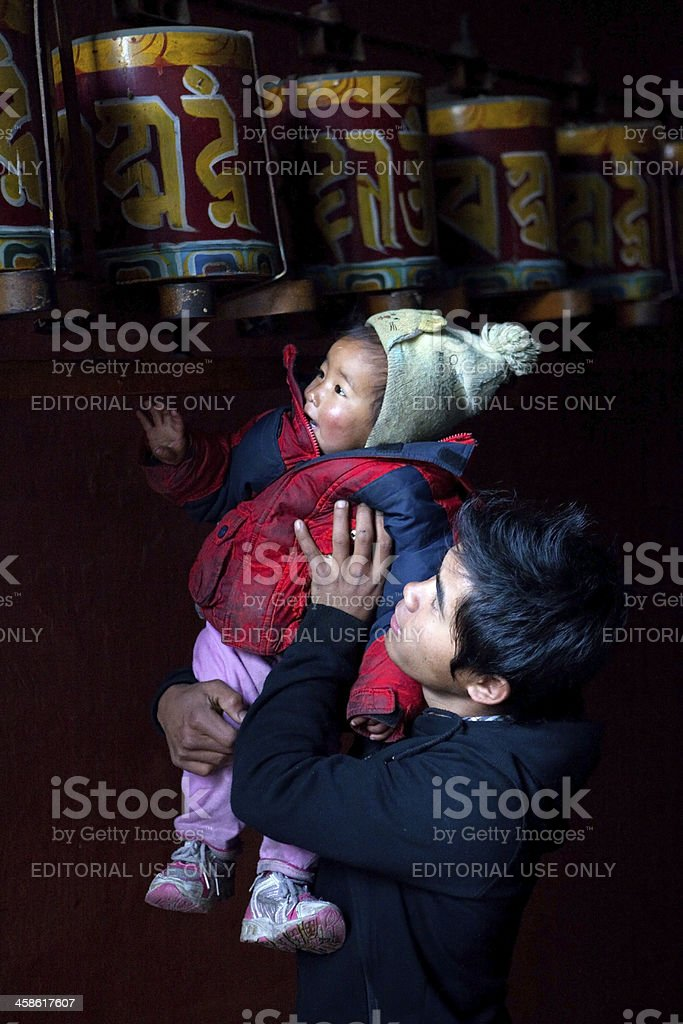 Tibetan refugees in New Delhi, India royalty-free stock photo