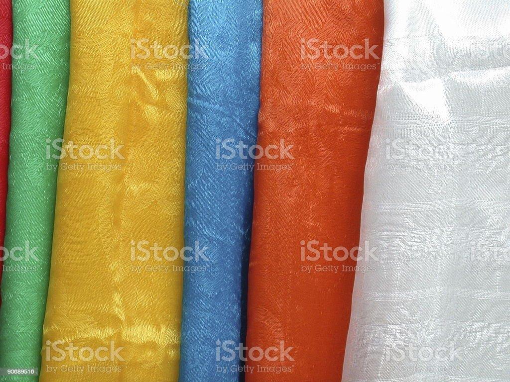 Tibetan scarfs (khata) royalty-free stock photo