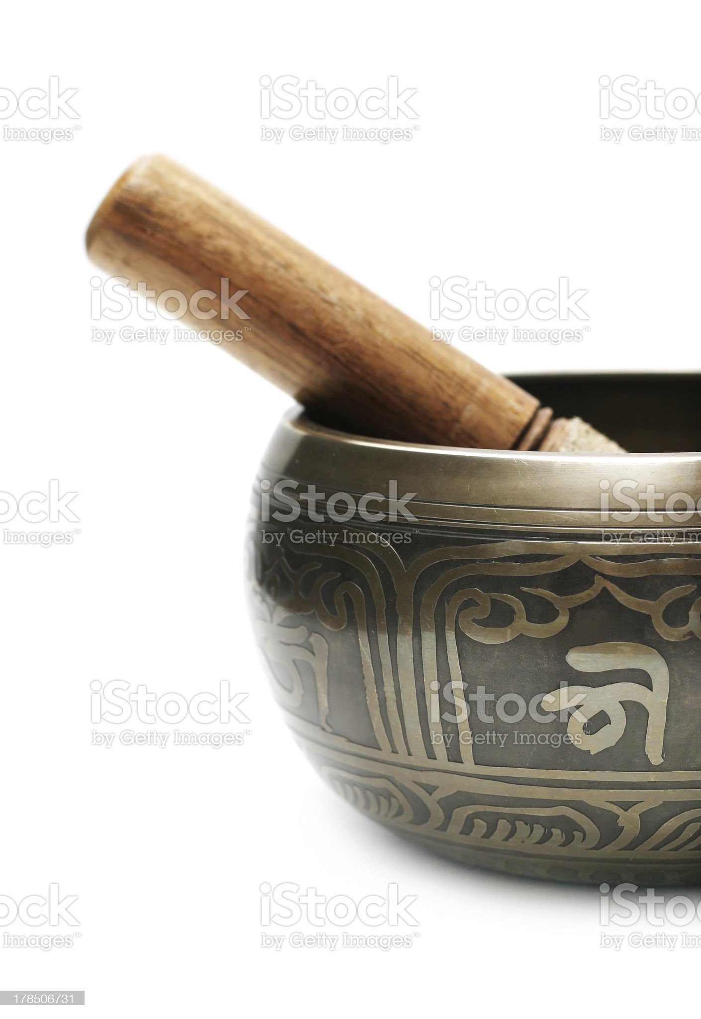 Tibetan singing bowl royalty-free stock photo