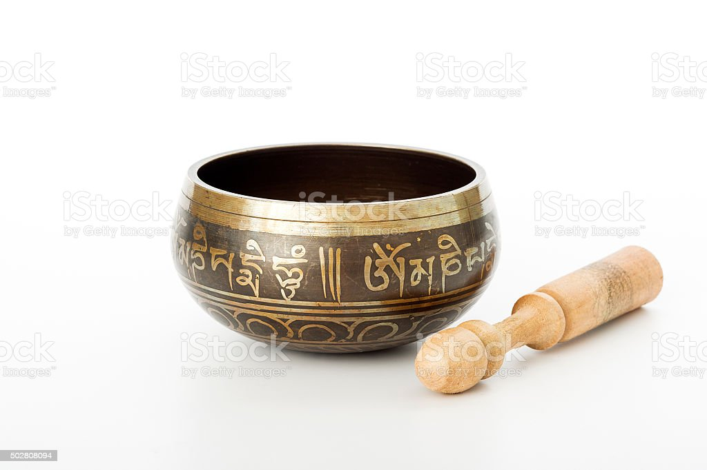 Tibetan Singing bowl stock photo