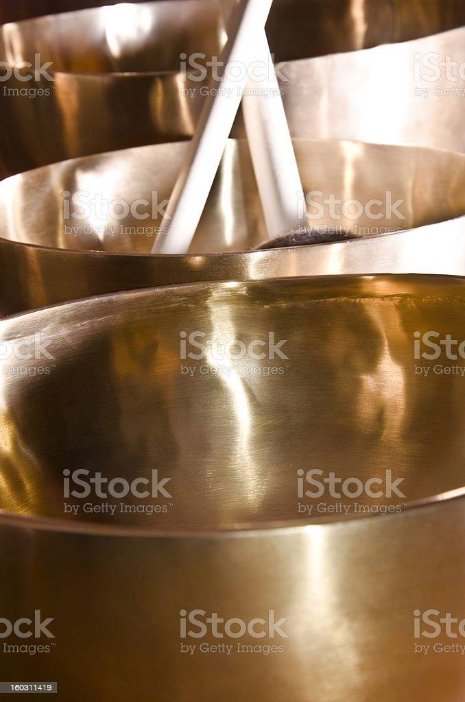 Tibetan singing bowls royalty-free stock photo