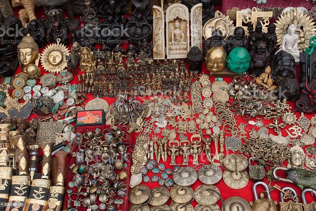 Tibetan souvenirs stock photo