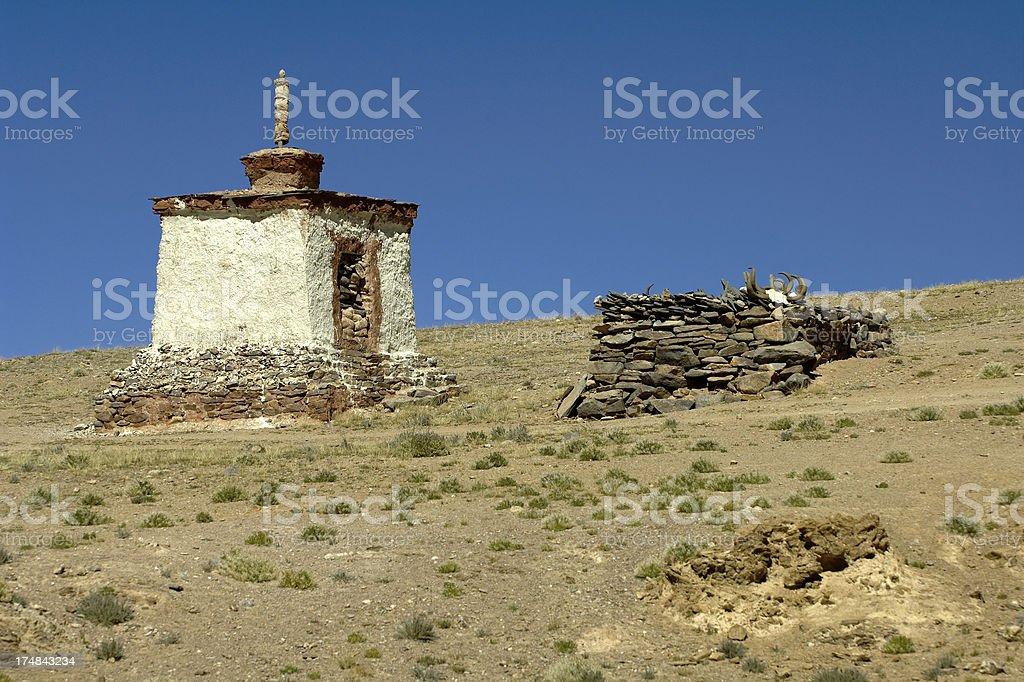 Tibetan Structure stock photo