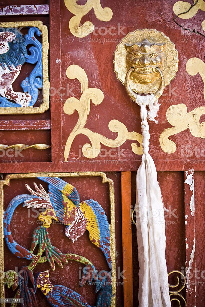Tibetan symbols royalty-free stock photo