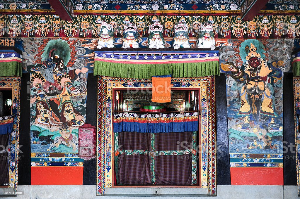Tibetan temple in Gangtok stock photo
