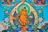 Tibetan Thangka of Manjusri