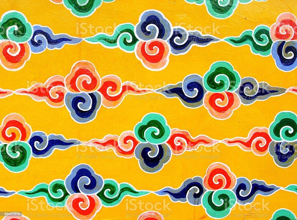 Tibetan wall decoration royalty-free stock photo