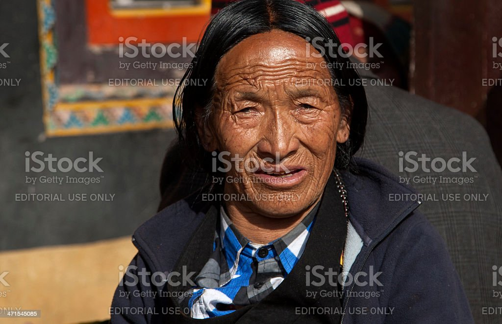 Tibetan Woman, Kathmandu, Nepal royalty-free stock photo