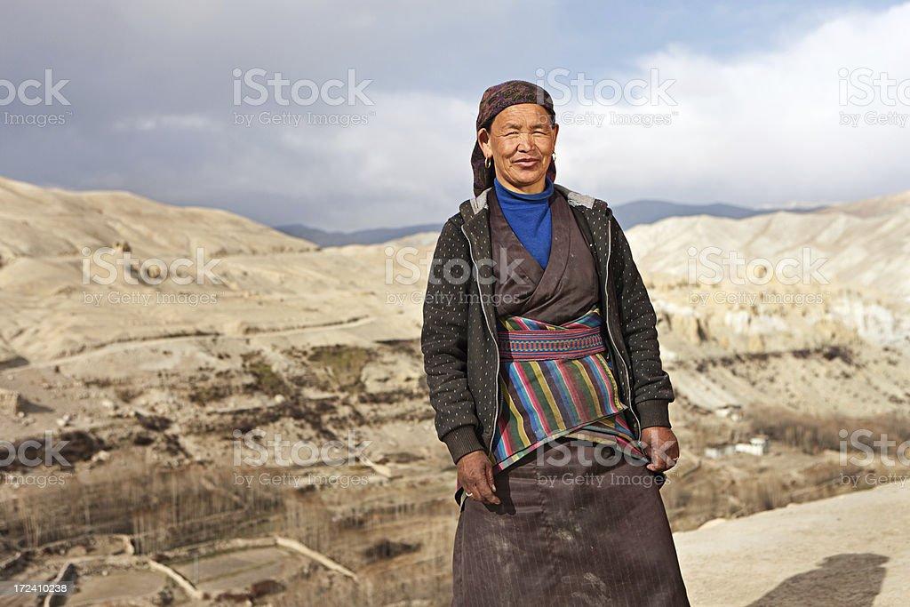 Tibetan woman. royalty-free stock photo